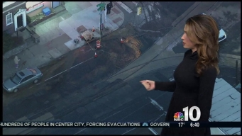 Get Around Icy Mess After Water Main Break