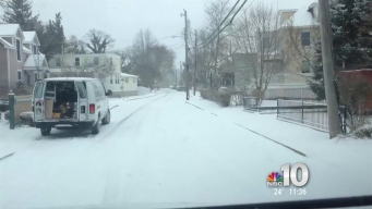 Snow Falls on Jersey Shore
