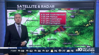 NBC10 First Alert Weather: Cloudy, Morning Showers