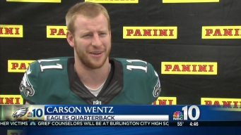 Eagles QB Carson Wentz Gets 1st Trading Card