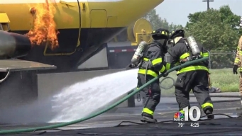 Allentown Crews Burn Plane For Drill