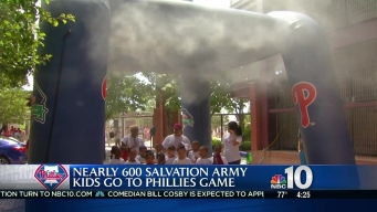 Salvation Army Kids Flood Phillies Game