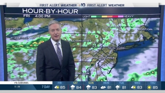NBC10 First Alert Weather: Clouds, Scattered Showers Blow Through