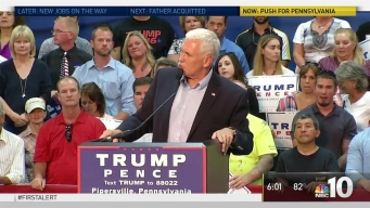 Mike Pence Campaigns through Pennsylvania