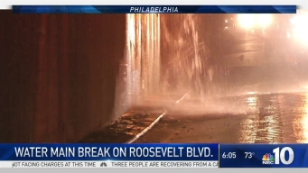 Water Main Break Slows Roosevelt Blvd.