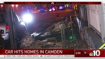 Out-of-Control Car Hits Homes, Cars in Camden