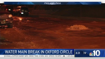 Water Main Break Floods NE Philly Streets