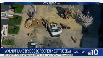 Walnut Lane Bridge Set to Reopen