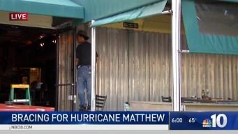 NBC10 in Florida For Matthew Preparations