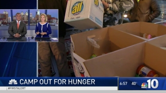 NBC10 Morning Team Join WMMR's Camp Out for Hunger