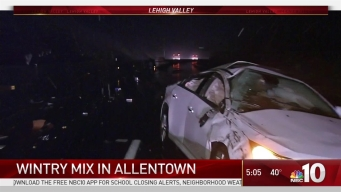 Wintry Mix Causes Road Problems In Lehigh Valley