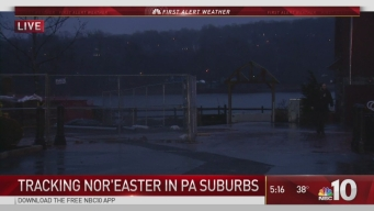 Tracking Nor'easter in PA Suburbs