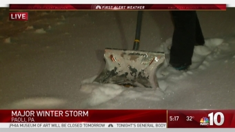 Chester County Seeing Inches of Heavy Snow