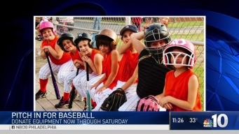 WMGK Holds Baseball Equipment Drive