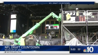 NFL Draft Road Closures Snarl Traffic in Center City