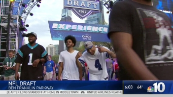 Day 2 of NFL Draft in Philly