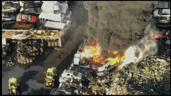 Cars Catch Fire at Recycling Center in Burlington County