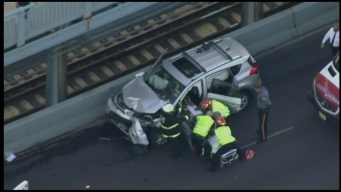 First Responders Rescue Person Trapped in Vehicle on Ben Franklin Bridge