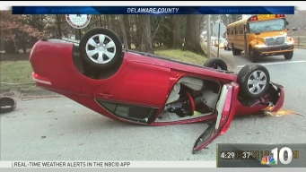 Pool Drainage Causes Icy Road That Flipped a Car