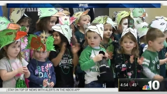 Pint-Sized Eagles Fans Cheer on the Birds