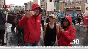 Runners Celebrate the Blue Cross Broad Street Run