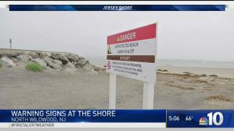 Warning Signs Pop Up in North Wildwood