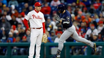 Jerad Eickhoff Pounded in Phillies Loss as Ryan Braun Shockingly Homers Again at CBP
