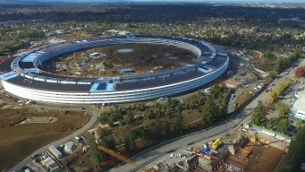 WATCH: New Drone Video Shows Apple 'Spaceship' Almost Done