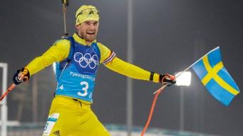 Sweden Takes Gold in Biathlon in Front of King