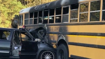 Hero Bus Driver Saves Children From Burning School Bus