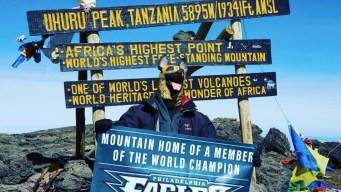 Of Course Chris Long Brought Underdog Mask on Mt. Kilimanjaro Climb