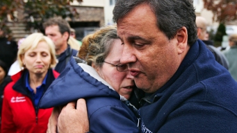 1 Week Late: Christie Meets Sandy Victims