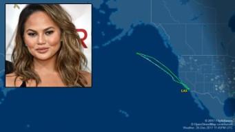 Chrissy Teigen Tweets Nightmare Flight After Passenger Mix-Up