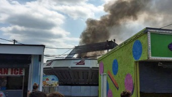 Ride Catches Fire at Jersey Shore Amusement Park