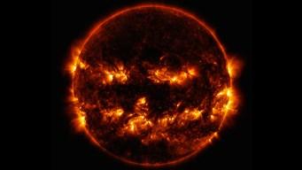 NASA Releases Jack-O'-Lantern Image of the Sun