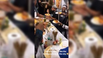 Thanksgiving Feast on NYC Subway Brings Early Holiday Joy to Commuters