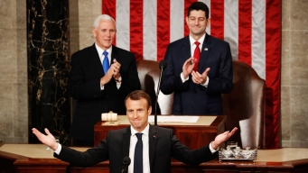 In Congress, Macron Argues for Globalism Over Nationalism
