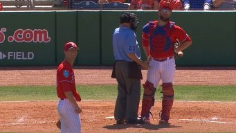 Brushbacks, Hit Batsmen, Ejections in Phils' Spring Training Game