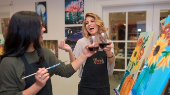 Creativity Without the Pressure at 'Paint and Sip' Studios
