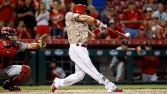 Scooter Gennett Hits 4 Home Runs for Reds to Tie MLB Record