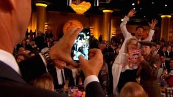 Cumberbatch Photobombs Streep, Cho at Globes