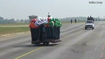 58 Indian Soldiers Ride a Single Motorcycle to Break Record