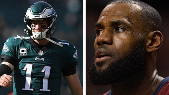 LeBron James Loves Him Some Carson Wentz