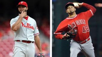 Phillies Acquire Relief Pitcher Jose Alvarez From Angels in Exchange for Luis Garcia