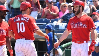 Bryce Harper Hits Go-ahead Home Run as Phillies Power Past Indians
