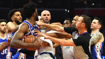 63b23e26d46 Sixers Leave Los Angeles With 2 Fights, 1 Ejection and a Win Over Clippers