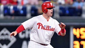 Phillies Cut Loose First Baseman Justin Bour and Reliever Luis Avilan