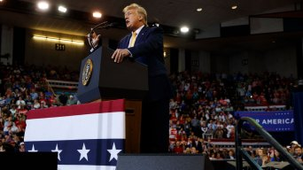 Trump Gripes About Impeachment, Media at Louisiana Rally