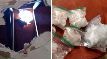 Ice Chunks Crash Through Ceiling of Family's Bathroom