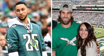 Stars Come Out for Eagles-Jets Game at the Linc